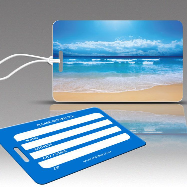 """PARADISE BEACH """"Travel Collection"""" Luggage Tags"""
