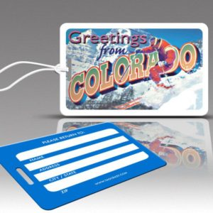 colorado luggage tags