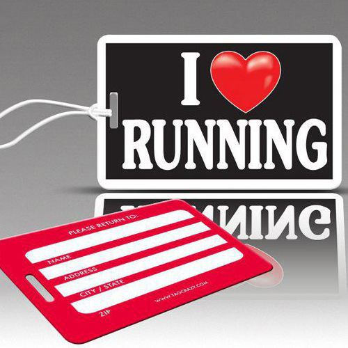 iHeart running Luggage Tags